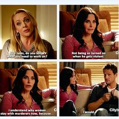Cougar Town...this show is so weird but hilarious!