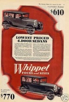 Willys Whippet Four & Six Sedans Color (1928)