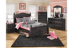 Full bed with under bed storage with open drawers