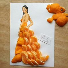 Tangerine gown by Edgar Artis