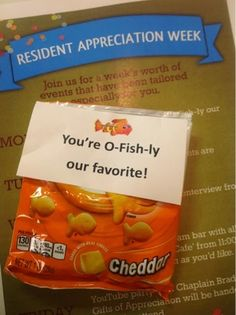 Activity Director Craft & Event Ideas. You're O-fish-ly our favorite! Resident Appreciation Week.   www.dynamicseniorliving.blogspot.com