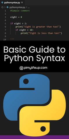 In this tutorial, we explain the Python programming language's syntax. You must understand the basic syntax if you want to write valid code. Basic Programming, Programming Tutorial, Python Programming, Programming Languages, Computer Programming, Introduction To Programming, Medical Technology, Computer Technology, Computer Science