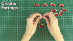Learn To Make Watermelon Slices Polymer Clay Charms