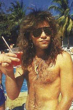 Jon Bon Jovi shirtless