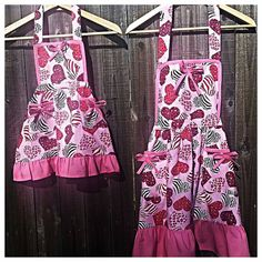 Check out this item in my Etsy shop https://www.etsy.com/listing/261114171/mommy-and-me-apron-set-matching-aprons
