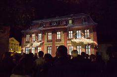 "Genius Loci Weimar 2013 Facade projection festival // Location: Wittumspalais // Media Apparat ""Ana.Digital"" // Photo: www.henry-sowinski.info Genius Loci, Projection Mapping, Three Dimensional, Vienna, Facade, Competition, Landscape, Digital, Artwork"