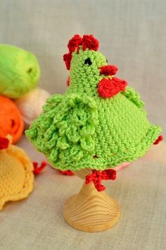 Chicken egg warmers handmade egg cosy crochet by 101Crochet