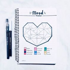 17 Bullet Journals to fall that make us want to start ours - # to . 17 Bullet Journals à tomber qui nous donnent envie de commencer le nôtre – 17 Bullet Journals to fall that make us want to start ours – start Bullet Journal Tracker, Weekly Spread Bullet Journal, February Bullet Journal, Bullet Journal Mood, Bullet Journal Layout, My Journal, Bullet Journal Inspiration, Journal Pages, Journal Ideas