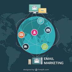 Ilustração vetorial e-mail marketing Vetor grátis