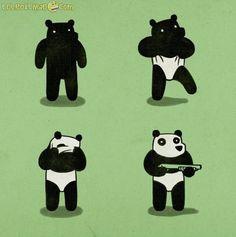 Bank Robbery Panda Bear