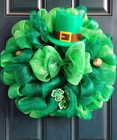 St. Patricks Day Wreath Leprechaun. $50.00, via Etsy.