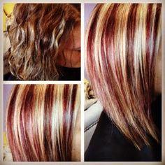 Red Blonde Brown Highlights Lowlights Red Blonde Hair