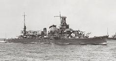 Heavy cruiser Furutaka, of the Imperial Japanese Navy, in 1941