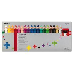 Beim Malen Schreiben lernen - das ist das Konzept der Plus-Serie von LAMY.<br /> <br /> Für Kinder ist Malen nicht nur eine farbenfrohe Kritzelei, sondern die erste Form der Kommunikation auf Papier. <br /> Für die jüngsten Entdecker bietet der 3plus Farb-, Aquarell und Wachsmalstift in einem. <br /> Durch seine ergonomische Form mit abgerundeten Kanten und seine kompakte Länge kann er besonders gut mit der ganzen Hand gegriffen werden. Seine extrad...