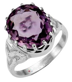 Ring Crafted in Sterling Silver with Amethyst Stone Mounted Over Celtic Knotwork  * Available in Sizes J, L and N  * Edinburgh hallmarked, Sterling Silver  * Unique design inspired by Celtic forms  * Made with finest traditional materials  * Individually hand-crafted in Scotland in a family run workshop  * Presentation boxed to make a great gift