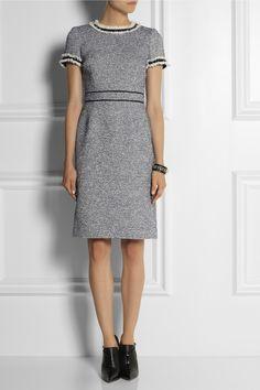 Tory Burch|Embellished tweed dress|NET-A-PORTER.COM