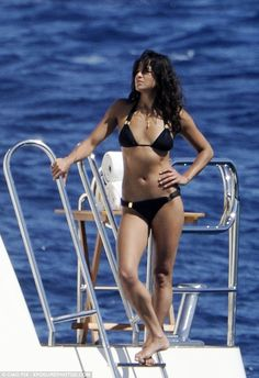 Back to where it all began: A bikini-clad Michelle Rodriguez shows off her toned body as she soaks up the sun on a super-yacht in Sardinia. Michelle Rodriguez, Zac Efron, Fast And Furious, Zac And Vanessa, Bikini Clad, Super Yachts, Old Actress, Bikini Photos, Black Bikini