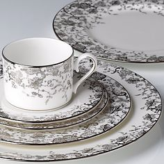 Enjoy unique dinnerware and flatware patterns by Marchesa and other America's top designers. Browse Marchesa dinnerware products created exclusively for Lenox. Lenox China, China Sets, Coffee Set, Coffee Break, Dinner Sets, China Patterns, China Dinnerware, French Lace, China Porcelain