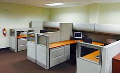 Herman Miller Ethospace 8x8 U-Shape Contemporary Design Cubicle sitting side by side Loaded, $1995 for 2 Stations