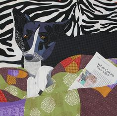 "Still Going Steady, 25 x 25"", by Jan Magee.  25th Anniversary auction quilt, Rocky Mountain Quilt Museum 2015."