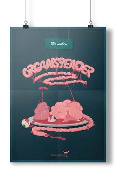 Organspender – Jan Behne  #illustration #poster #design Graphics, Illustration, Poster, Design, Graphic Design, Illustrations, Printmaking, Billboard