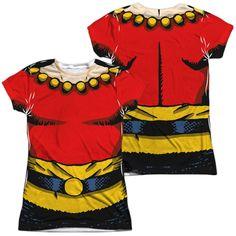 Flash Gordon Flash Costume Junior All Over Print 100% Poly T-Shirt