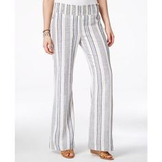 Bcx Juniors' Wide-Leg Linen Drawstring Pants | Products ...