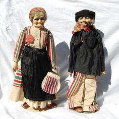 Le Basque Porte Bonheur Dolls. Vintage French Cloth Dolls.
