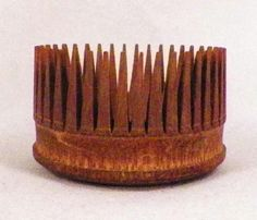 Antique Shaker Round Wooden Hair Comb Primitive Wood Small Delicate Nice Cond  | eBay