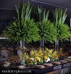 69 Ideas Wedding Centerpieces Greenery Tall For 2019 Succulent Centerpieces, Floral Centerpieces, Wedding Centerpieces, Wedding Decorations, Table Decorations, Centrepieces, Floral Wedding, Wedding Flowers, Gardening