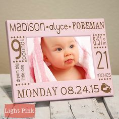 Personalized Birth Announcement Picture Frame-baby by PWEGifts