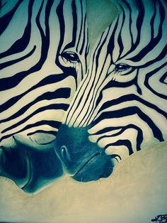 Realistic Zebra Paintings. Acrylic on canvas