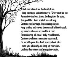quotes about loss of a family member - Google Search