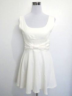 vintage ivory/cream backless mini dress 1960s by VintageHomage, $35.00