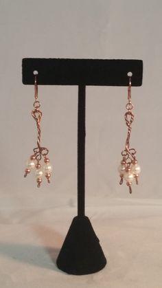 Pearl & Copper Earrings