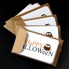 Happy Halloween OWL Mini Notes by scrapbits