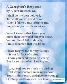 This poem by Albert Reinsch, A Caregiver& Response, is a humble response to Owen Darnell& poem, An Alzheimer& Request. Read more inspirational posts. Dementia Quotes, Alzheimers Quotes, Alzheimer's And Dementia, Dementia Care, Dementia Awareness, Alzheimer Care, Caregiver Quotes, Understanding Dementia, Aging Parents
