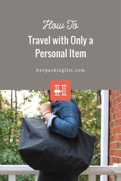 Many airlines now charge for standard carry-on luggage. To avoid fees, Caroline tested traveling with only a personal item for a weekend in Orlando. See how she did!