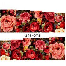 1 folha Sexy Rosa Vermelha Água Transferência Nail Art Stickers Decalques Decoração DIY Marca D' Água Wraps Manicure Ferramentas # STZ-073 alishoppbrasil