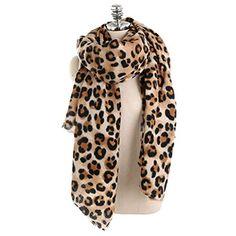 Femme Châle Cape Châle Chaud Hiver Doux Long écharpe Bleu Marine Imprimé léopard foulards