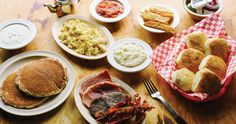 32 Mountain Breakfast Spots Worthy of a Wake-Up Call Whether your preference is a traditional, family-style spread or something more culinarily creative, we've found 32 local spots that are worthy of an early start. Southern Breakfast, Grit Cakes, Breakfast Specials, Cakes Plus, North Carolina Homes, Sausage Gravy, Old Fashioned Recipes, Biscuit Recipe