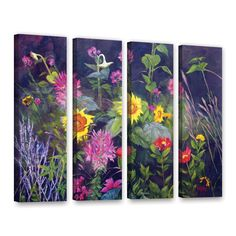 Out Of Darkness by Marina Petro 4 Piece Painting Print on Gallery Wrapped Canvas Set