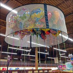 Ceiling Balloon Corral in Retail Merchandising