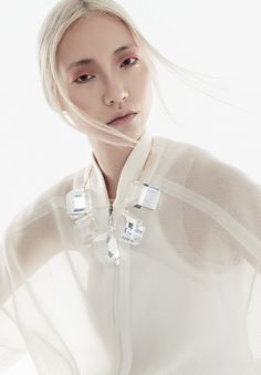 Transparency that is tailored in a sporty, fun style by Stella McCartney. $1020 #springtrend #fashion #style