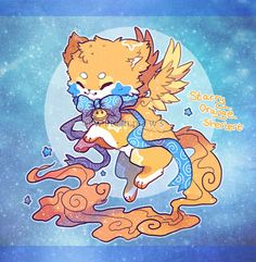 Starry Orange Sherbert Sushi Cat Auction (CLOSED) by witchpaws on DeviantArt