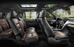 2015 White Ford Explorer Sport Interior