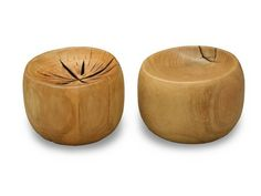 """Solid Wood Troy Stool  Solid wood stool on recessed casters, made with FSC certified wood.  Dimensions: 21"""" diameter x 18"""" H"""