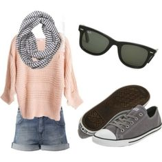 light pink & gray, created by kmfiz on Polyvore by olive