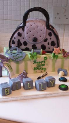 30th birthday cake and congratulations on the birth of the customers baby boy Billy :)