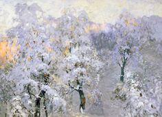 Konstantin Gorbatov, Trees in Wintry Silver on ArtStack #konstantin-gorbatov #art